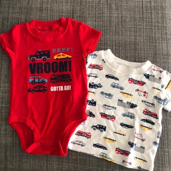 fc04d1bf3 Carter's Matching Sets | Carters Boys 6 Month Set Police Fire Truck ...